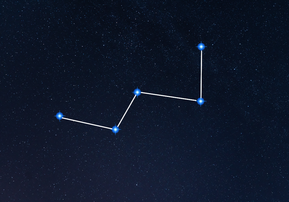 Cassiopeia Constellation visible in London