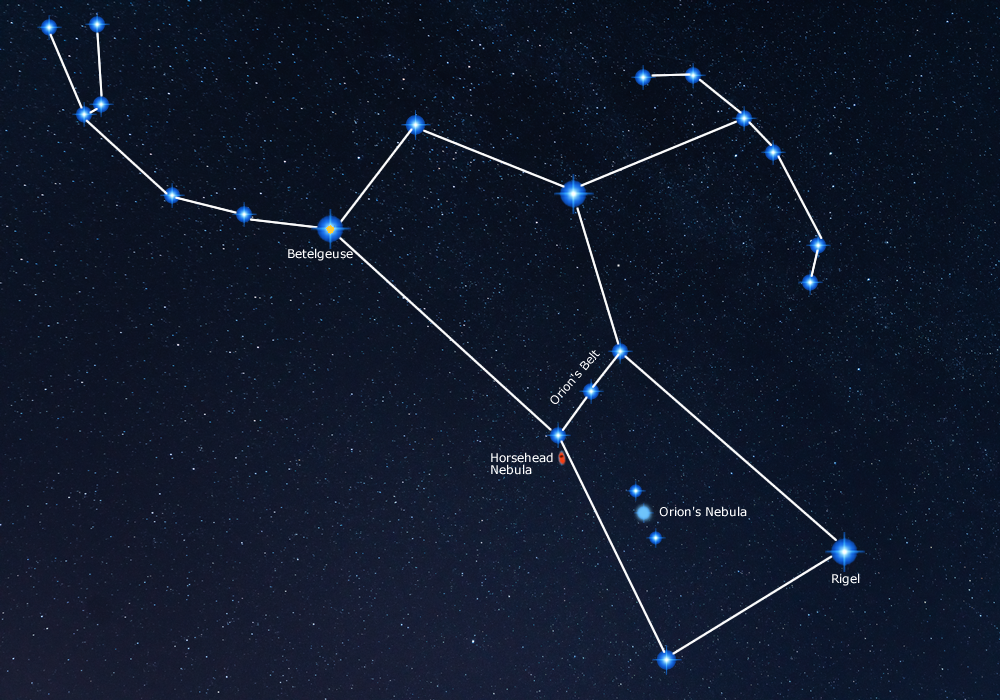 Orion Constellation visible in London